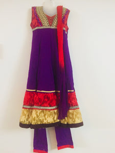 Embroided Shalwar (Purple  & Red)