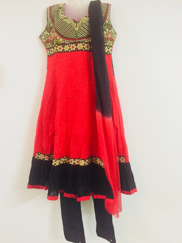 Embroided Shalwar (Red & Black)