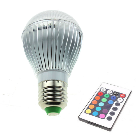 "<span lang=""fr"">Ampoule DEL RGB 9W E27 Manette</span><span lang=""en"">Lamp Bulb 9W RGB LED E27 with remote </span>"