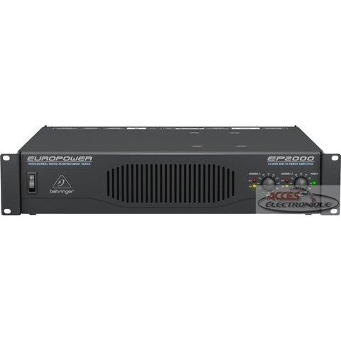 "<span lang=""fr"">Ampli de puiss. 2 canaux, 2000W.</span><span lang=""en"">2000W.  2 channel power amplifier</span>"
