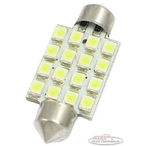 "<span lang=""fr"">Ampoule DEL 12V dome 16 SMD (41mm)</span><span lang=""en"">16 SMD LED Dome Bulb 12V (41mm)</span>"