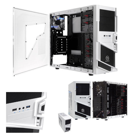 "<span lang=""fr"">Boitier ATX Thermaltake Blanc</span><span lang=""en"">Mid tower atx Thermaltake Snow</span>"
