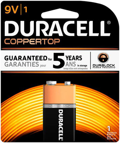 "<span lang=""fr"">Pile Duracell Coppertop 9V Alcaline - Unité</span><span lang=""en"">Duracell Coppertop Battery 9V AlKaline - Unit</span>"