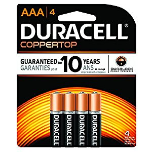 "<span lang=""fr"">Piles Duracell Coppertop AAA Alcaline (paquet de 4)</span><span lang=""en"">Duracell Coppertop Battery AAA AlKaline (4 pieces)</span>"