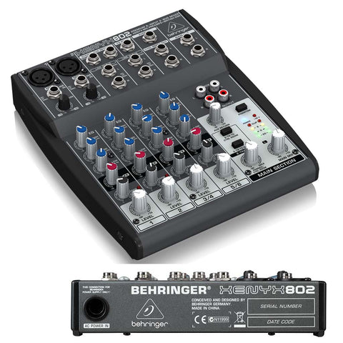 "<span lang=""fr"">Console Behringer Xenyx 802 8 canaux</span><span lang=""en"">Behringer Xenyx 802 8 Inputs Mixe</span>"