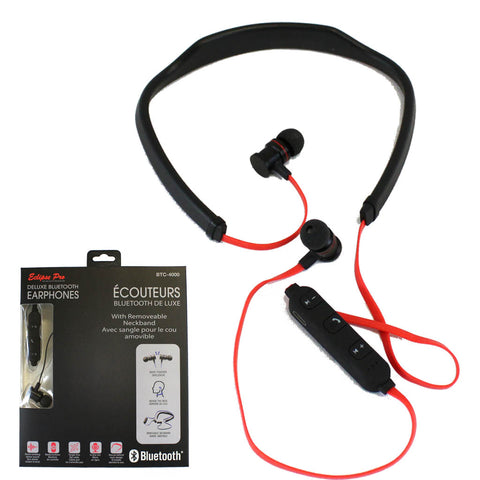 "<span lang=""fr"">Écouteurs Stéréo Bluetooth Deluxe Eclipse Pro avec sangle amovible pour le cou (BTC-4000)</span><span lang=""en"">Eclipse Pro Deluxe Bluetooth stereo earphones With Removeable Neckband (BTC-4000)</span>"