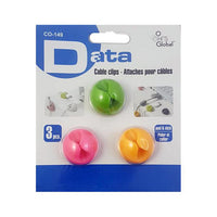 "<span lang=""fr"">Attaches auto-collantes pour fils Data - Couleurs variées/Paquet de 3 (CO-149)</span><span lang=""en"">Data Self-Adhesive Wire Ties Mixed Colours/3 pieces (CO-149)</span>"