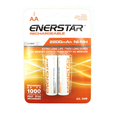 "<span lang=""fr"">Piles Enerstar Ni-Mh AA rechargeables - Paquet de 2</span><span lang=""en"">Enerstar Ni-Mh AA Rechargeable Batteries - 2 pieces</span>"