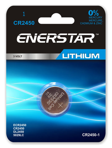 "<span lang=""fr""> Pile bouton Enerstar CR-2450 Lithium</span><span lang=""en"">Enerstar Button Battery CR-2450 Lithium</span>"
