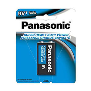 "<span lang=""fr"">1 pile 9V Panasonic 'heavy duty'</span><span lang=""en"">9V Panasonic Battery 'heavy duty'</span>"