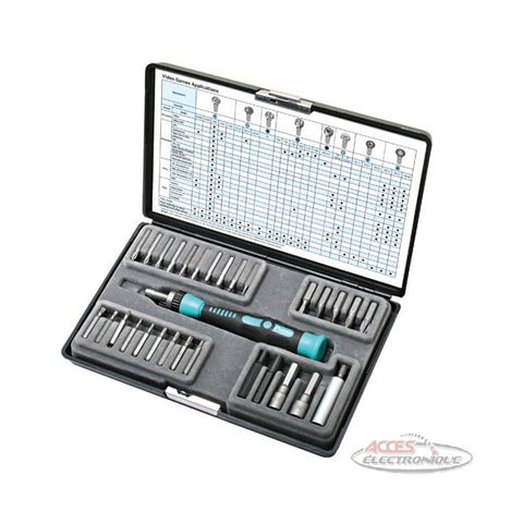 "<span lang=""fr"">Ens. 29 Lames + Tournevis de Precision</span><span lang=""en"">29 in 1 video game screwdriver set</span>"