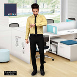 Yellow Formal Unstitched  Uniform Shirts And Pant for Office Staff