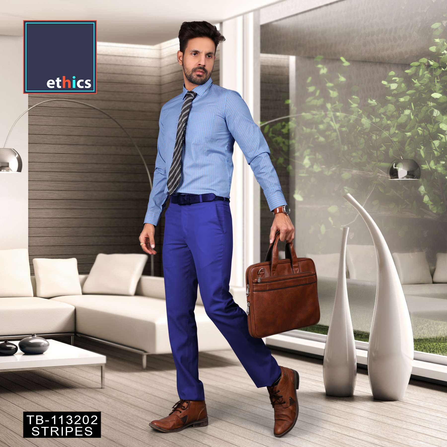 Formal Unstitched Uniform Blue Shirts and Pant