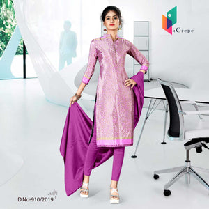 PINK CREPE SILK CORPORATE UNIFORM SALWAR KAMEEZ