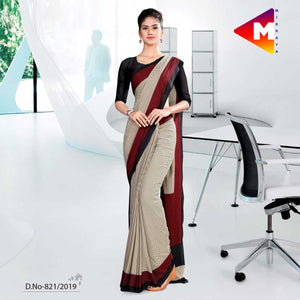 BLACK AND GREY  SCHOOL UNIFORM SAREE
