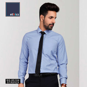 Blue Stripes Uniform Shirts Formal Work wear for Corporate Office