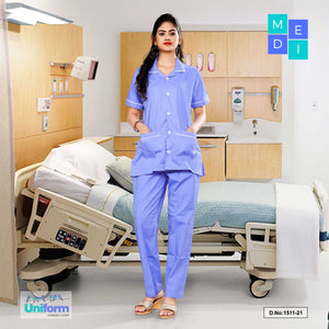 Nurse wear for Women | Hospital uniform for Nurses | Clinic uniforms | Hospital Uniform, 1511 Purple and White