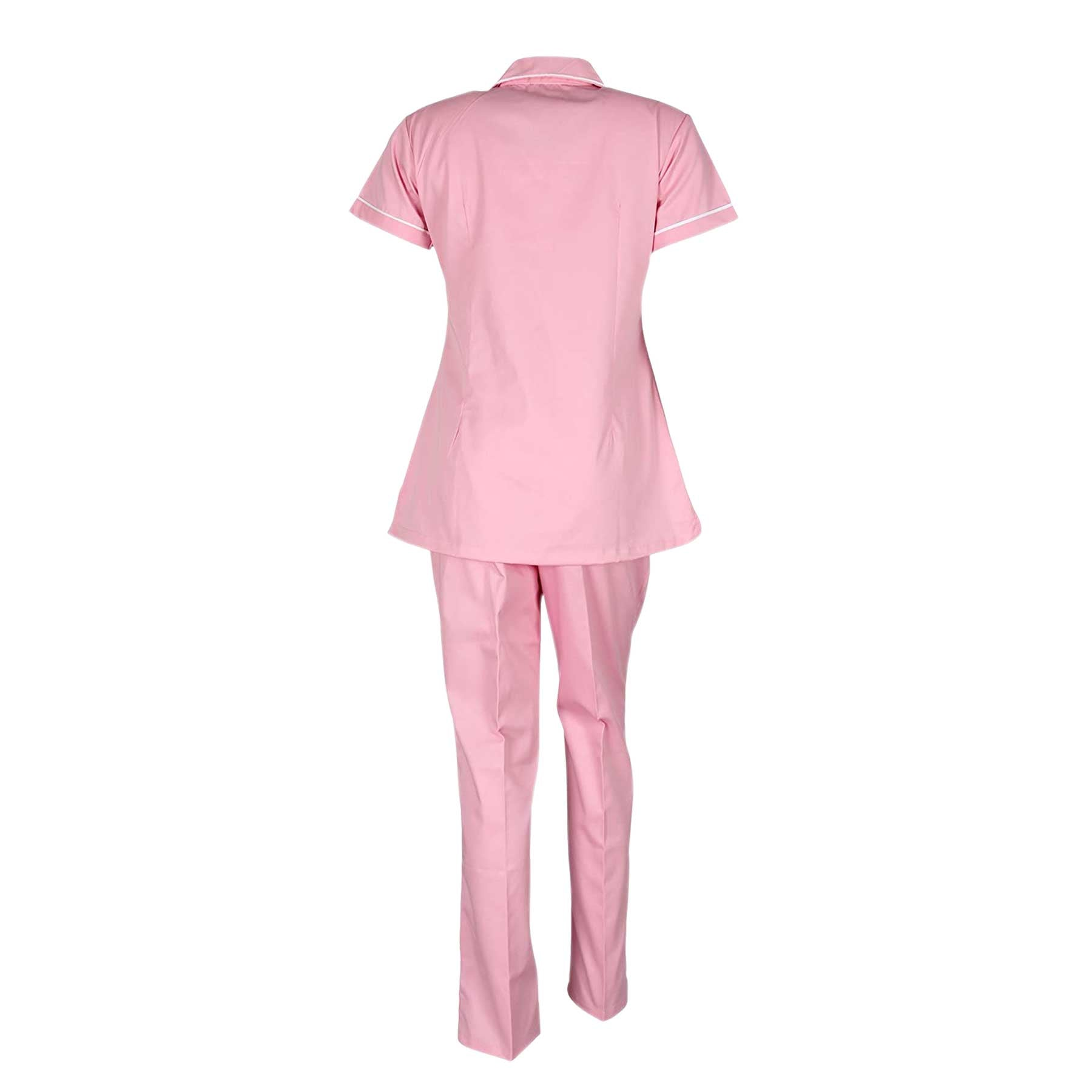 Nurse Dress for Women | Hospital Uniform, 1512 Light Pink and White
