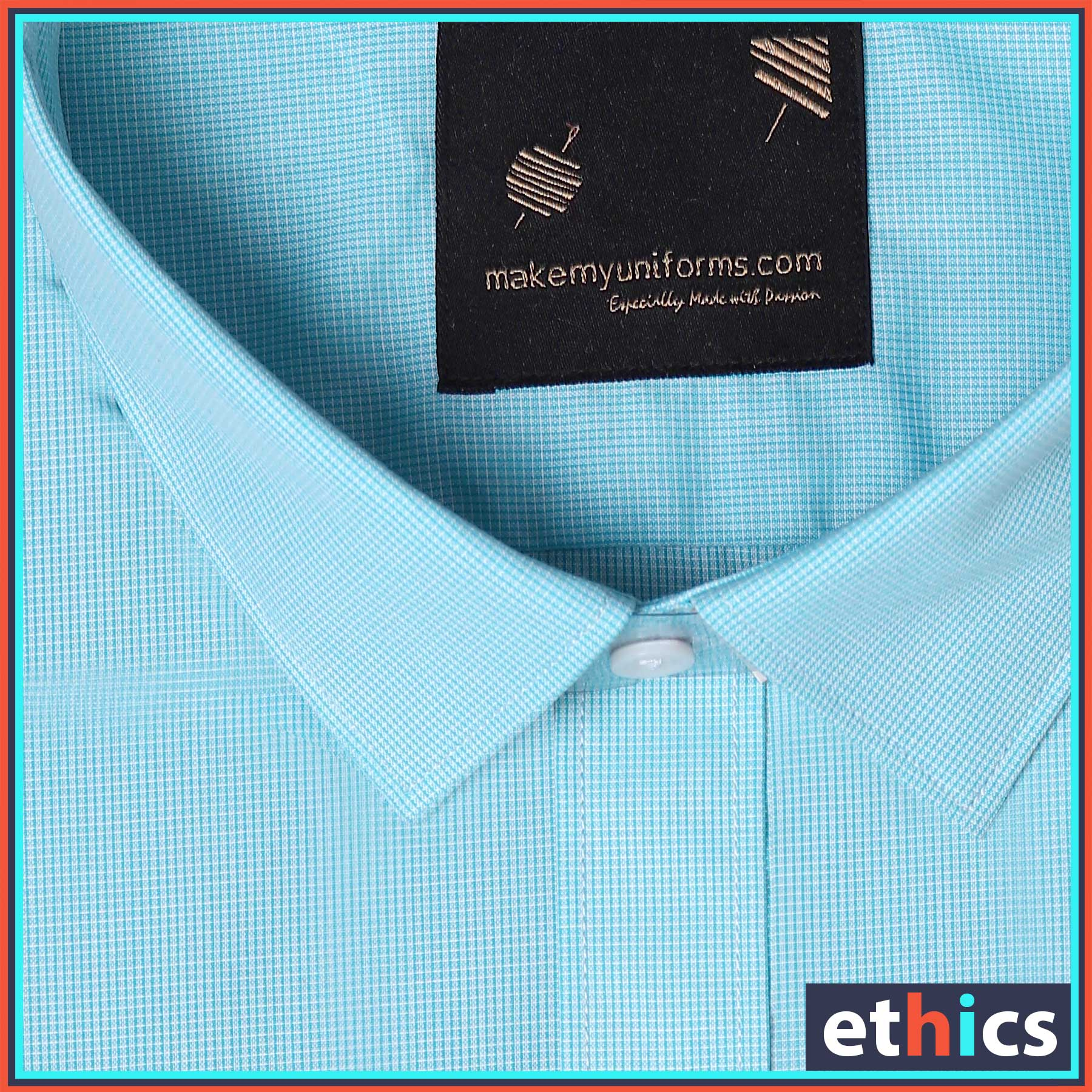 Sea Green Color Formal Uniform Shirt for Corporate Office S-445908