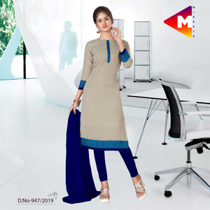 GREY AND BLUE   SCHOOL UNIFORM SALWAR