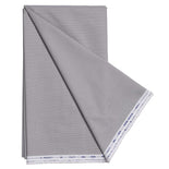 Men's Unstitched Cotton Formal shirt Fabrics (White and Grey Liney)