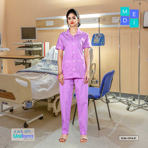 Hospital Uniform for Nurses | Clinic uniforms | Hospital Uniform, 1514 Purple and White