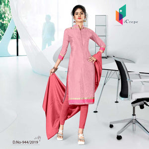 PINK CREPE SILK INSTITUTE UNIFORM SALWAR KAMEEZ