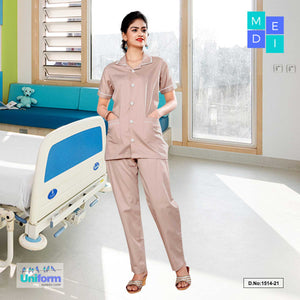 Womens Hospital uniform | Clinic uniforms | Hospital Uniform, 1516 Brown and White