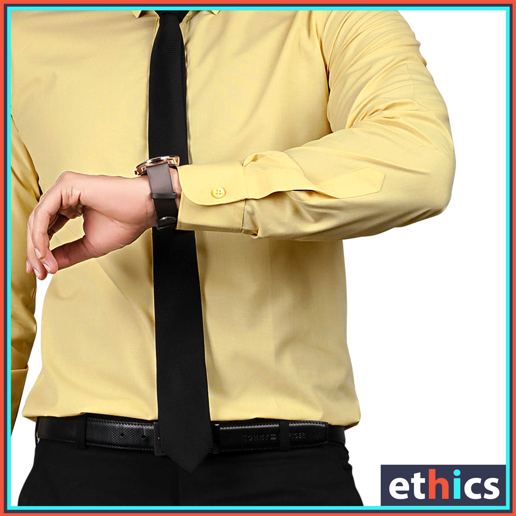 Yellow Uniform Shirts for Corporate Workforce T-445474