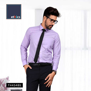 Lavender Men's Plain Formal Uniform Shirts for Office Staff