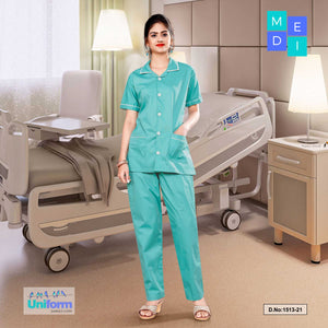 Womens Nurse wear | Hospital uniform for Nurses | Clinic uniforms | Hospital Uniform, 1513 Sea Green and White