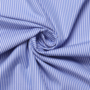 Blue Stripes Men's Cotton Unstitched Coporate Uniform Shirt Fabrics