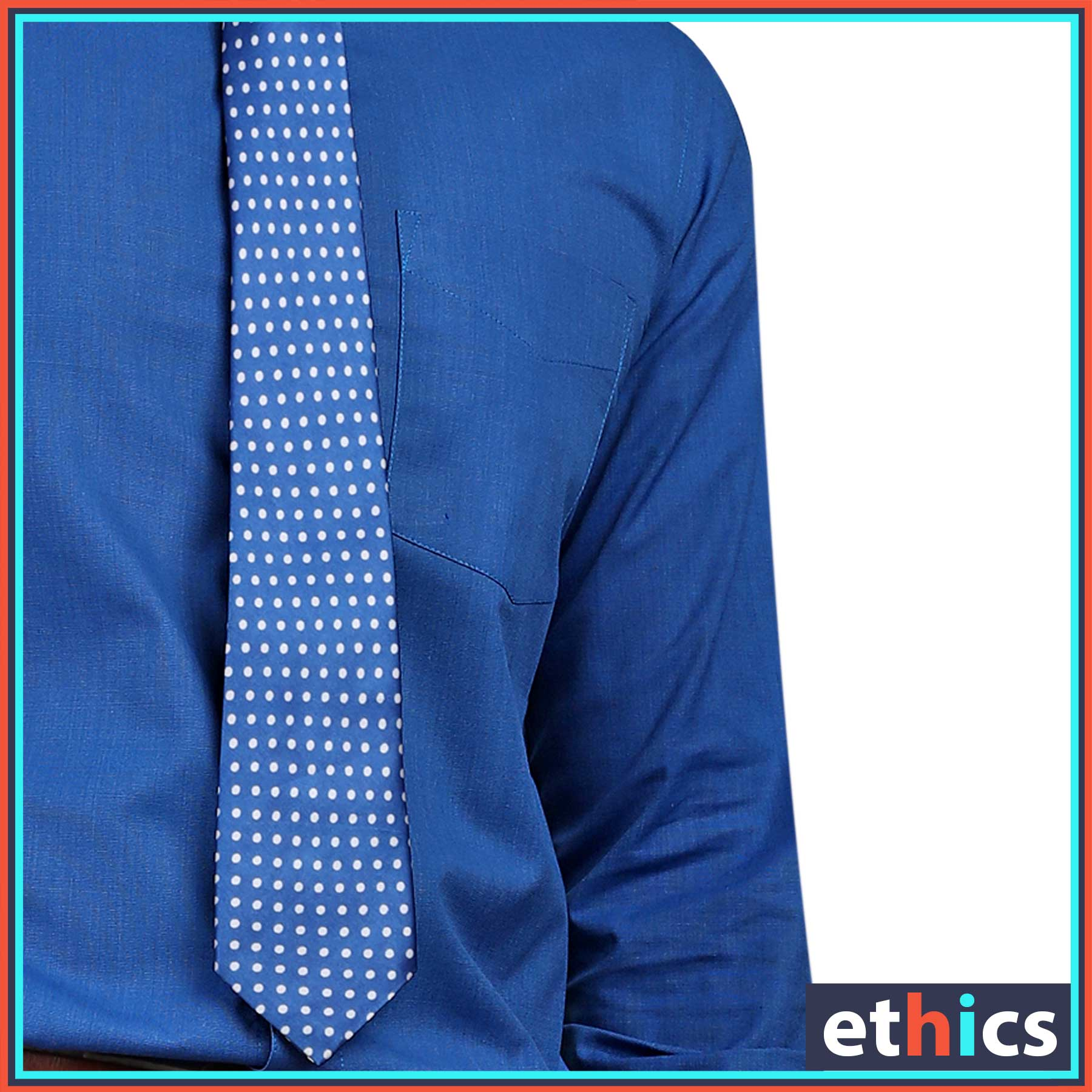 Solid Blue Mens Formal Uniform Shirt for Corporate Uniforms BF-81303