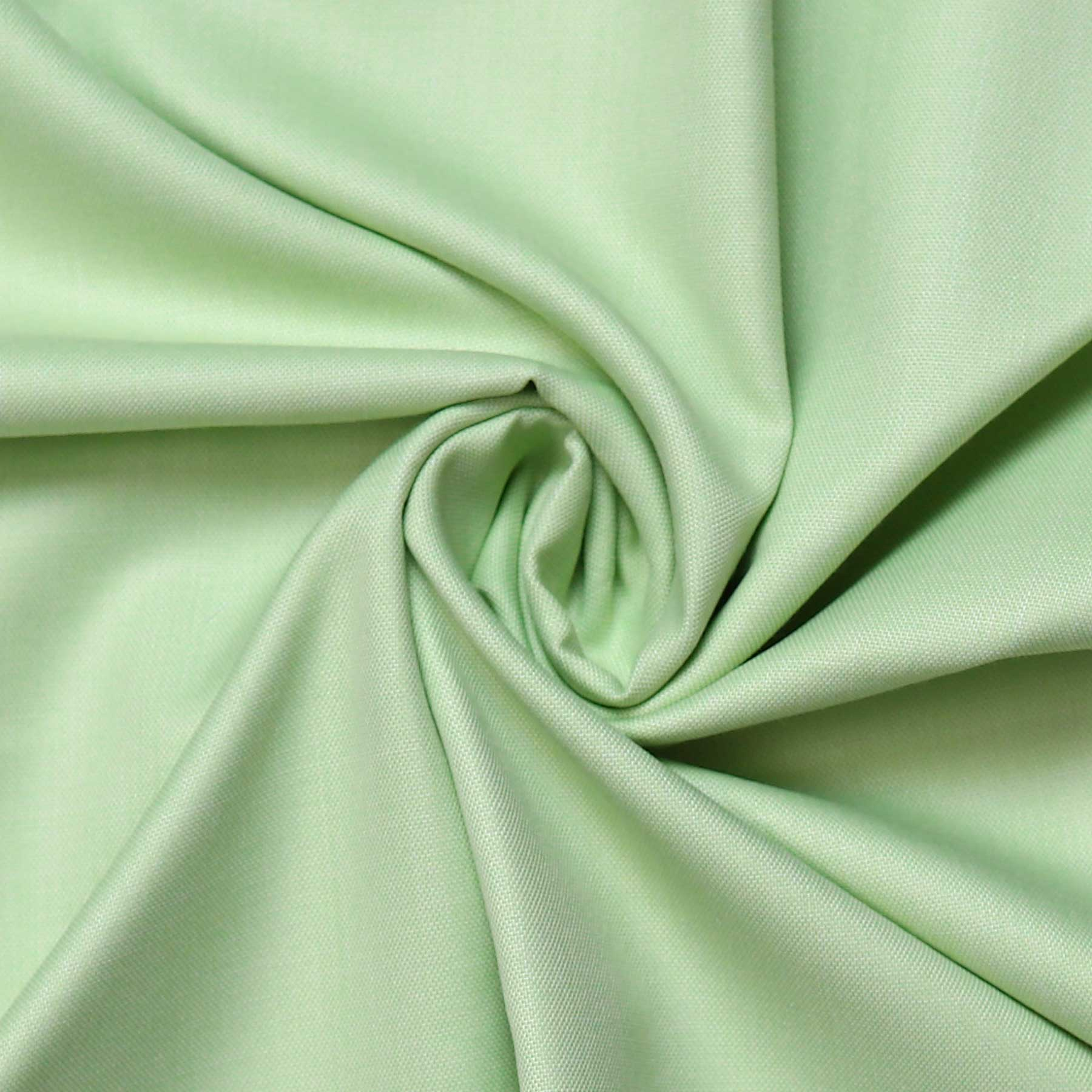 Apple Green Solid Men's Cotton Unstitched Office Uniform Shirt Fabrics