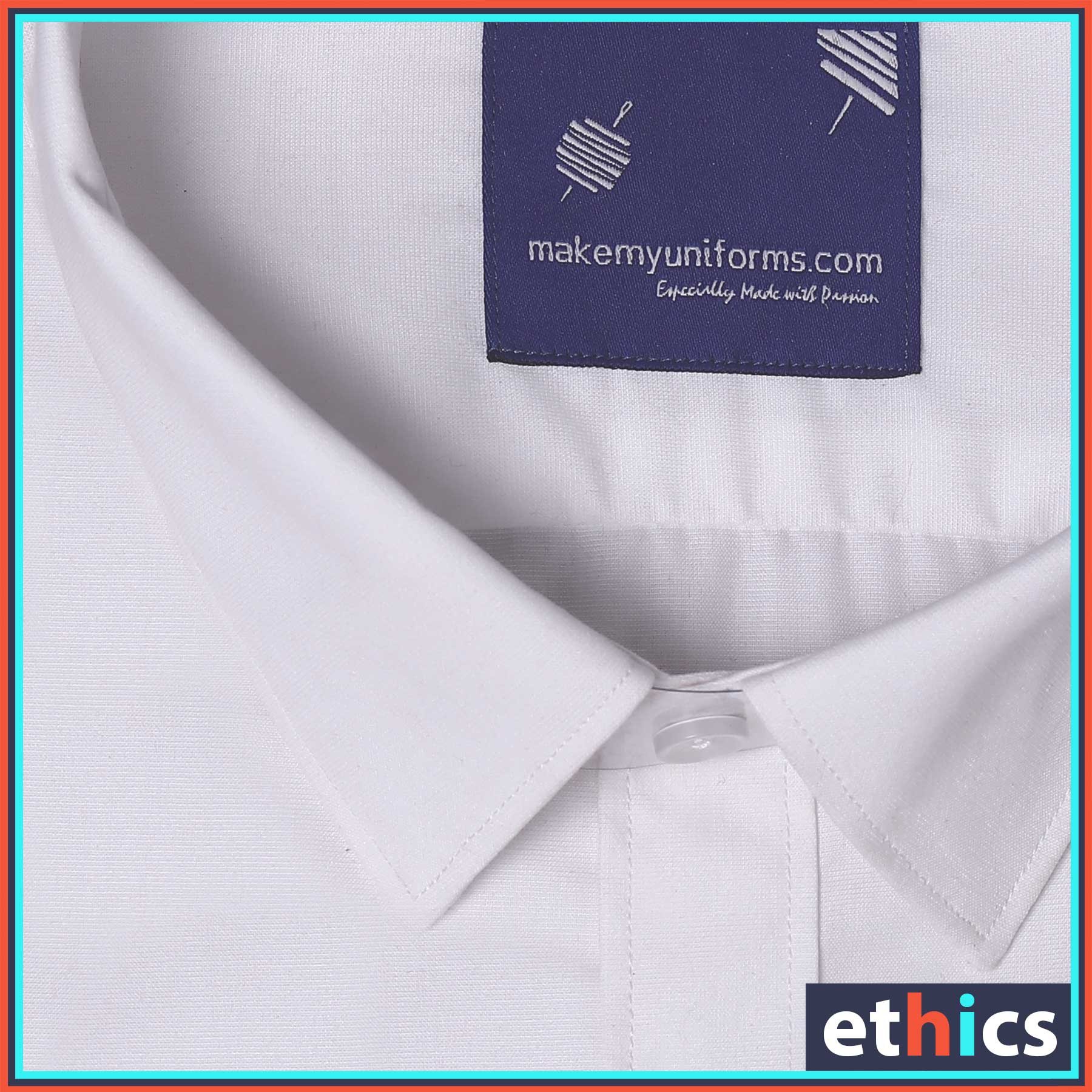 White Men's Formal Readymade Uniform Shirt for Office Staff