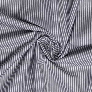 Grey Stripes Men's Cotton Formal Uniform Shirt Unstitched Fabrics