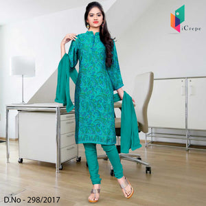 Sea green Italian Crepe Uniform Salwar Kameez