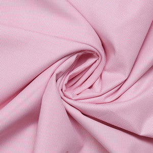 Pink Micro Stripes Men's Cotton Corporate Uniform Unstitched Shirt Fabrics