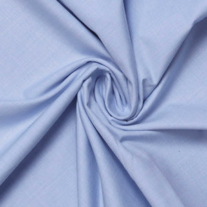 Ligh Blue Plain Men's Cotton Unstitched Shirt Fabric for Corporate Uniforms