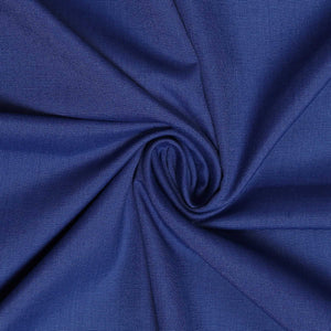 Solid Blue Men's Cotton Unstitched Shirt Fabric for Office Workwear