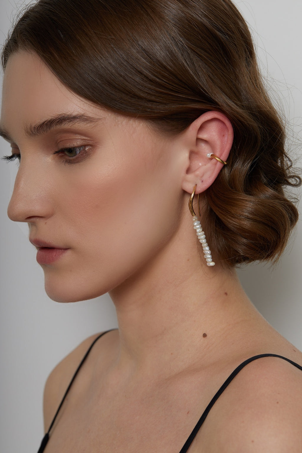 SET OF THREE PEARL EAR-SET
