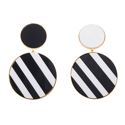TRIBALE STATEMENT STRIPED EARRINGS