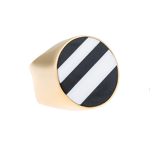 LARGE TRIBALE STRIPED RING