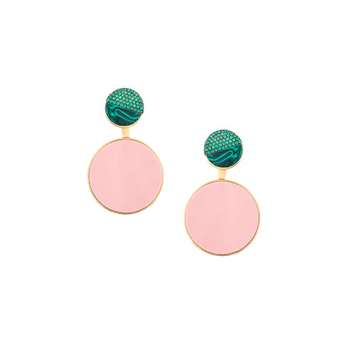 TRIBALE MINI STUD EAR-JACKET EARRINGS