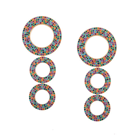 TRIBAL STATEMENT RAINBOW EARRINGS