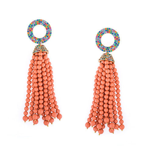 TRIBAL RAINBOW EARRINGS
