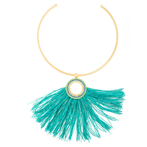 TRIBALE ARC FEATHER NECKLACE