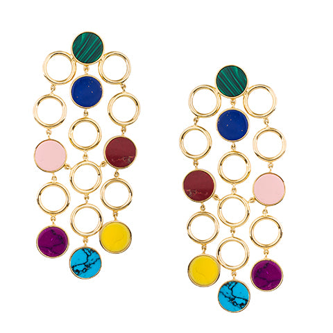 TRIBALE MULTI COLORED EARRINGS