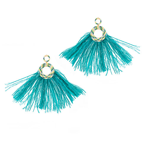 TRIBALE FEATHER EARRINGS