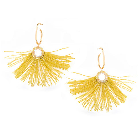 TRIBALE HOOP FEATHER EARRINGS